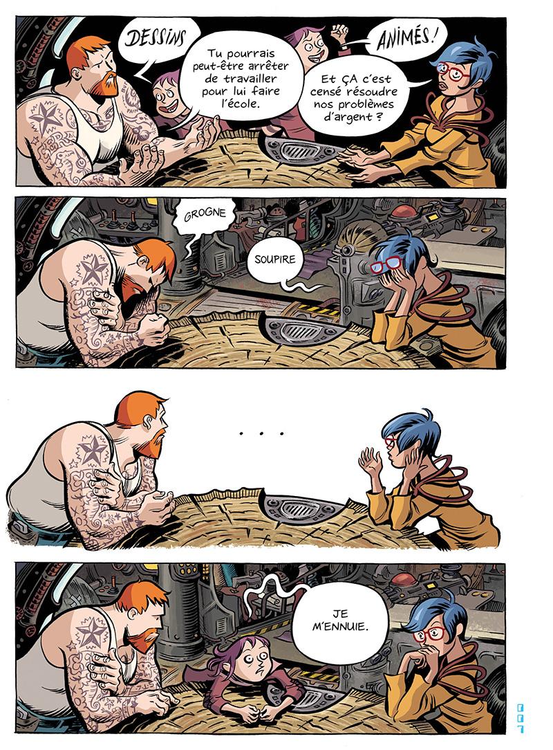Extrait n°8 du comics Space Boulettes par Craig Thompson
