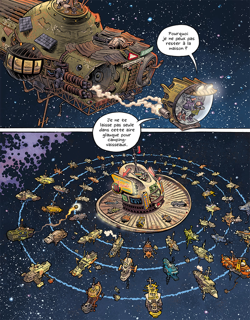 Extrait n°9 du comics Space Boulettes par Craig Thompson