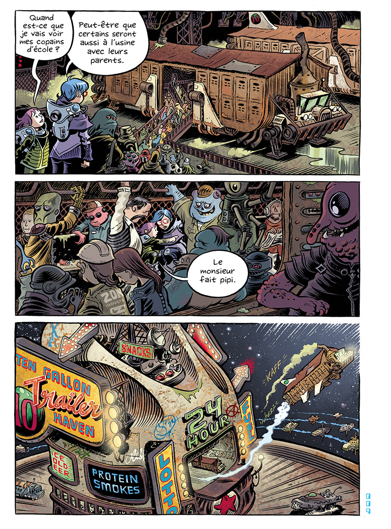 Extrait n°10 du comics Space Boulettes par Craig Thompson