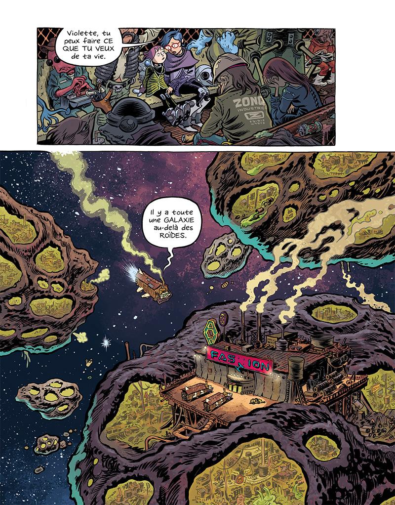 Extrait n°11 du comics Space Boulettes par Craig Thompson