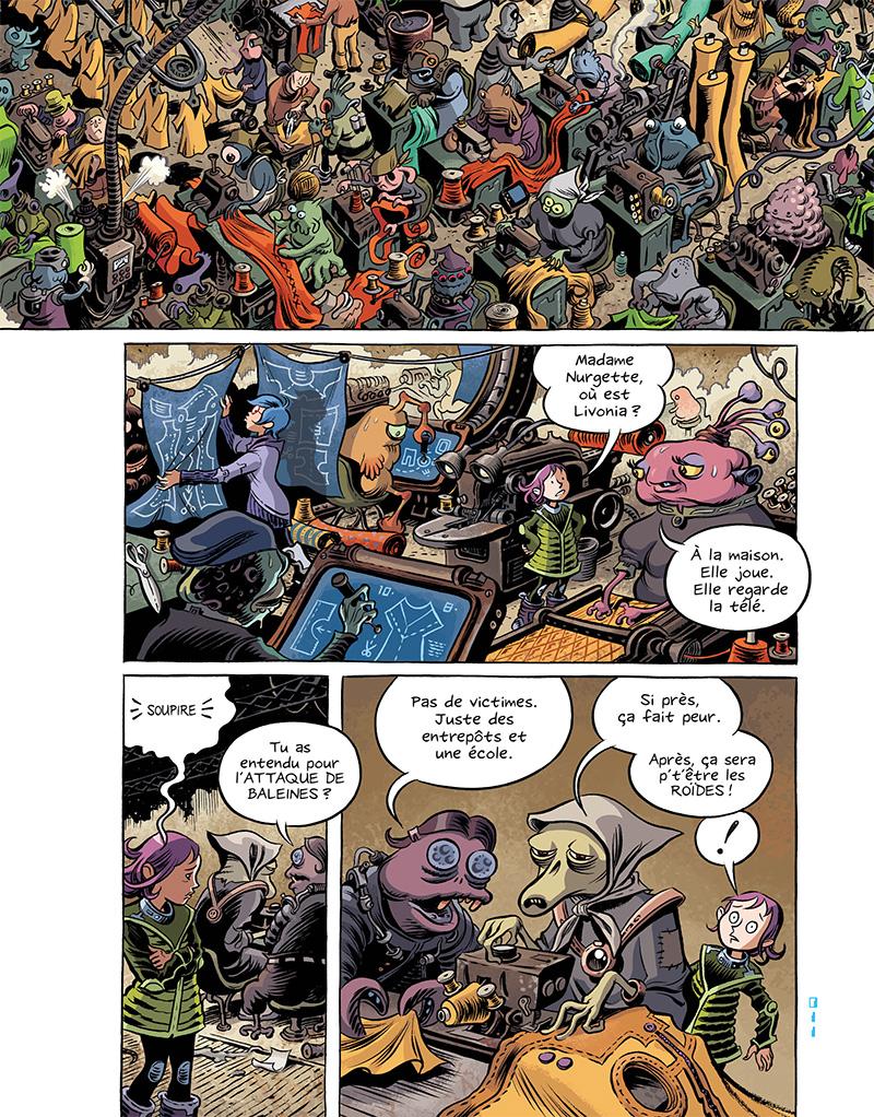 Extrait n°12 du comics Space Boulettes par Craig Thompson