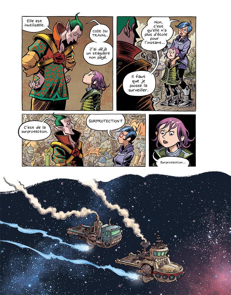 Extrait n°15 du comics Space Boulettes par Craig Thompson