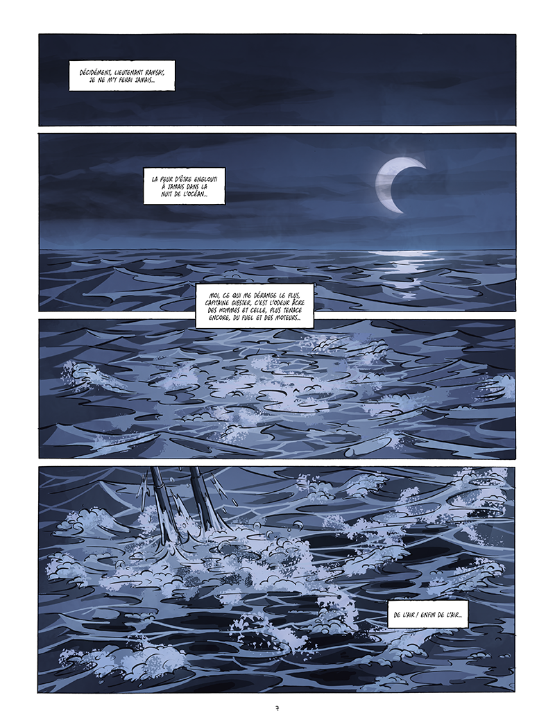 Extrait n°1 de la bd Black Sands par Tiburce Oger