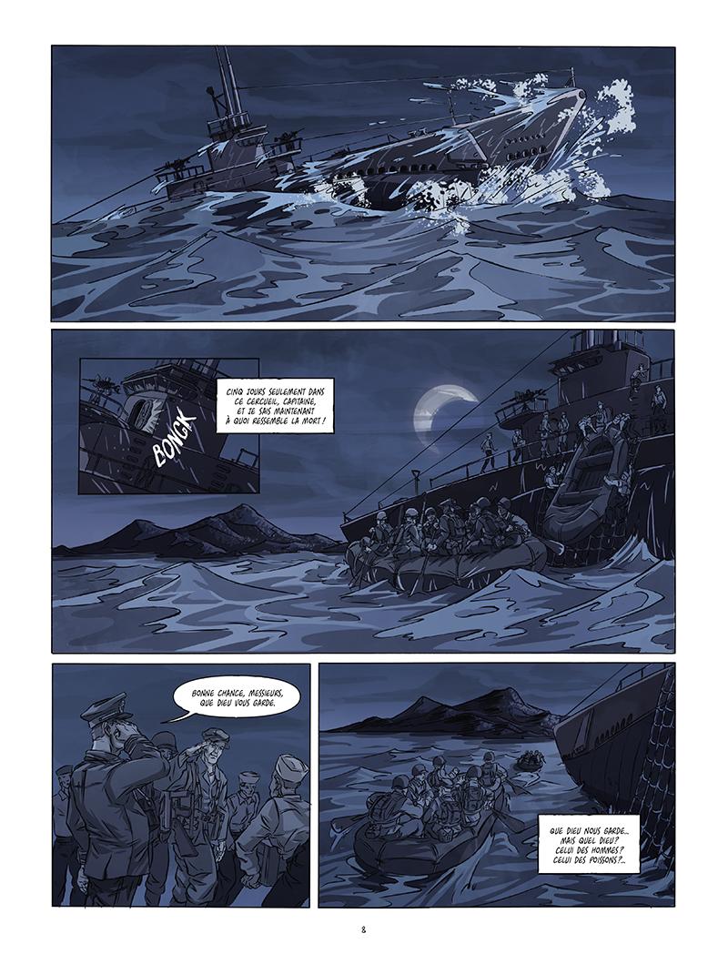 Extrait n°2 de la bd Black Sands par Tiburce Oger