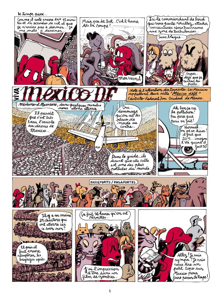 Extrait n°5 de la bd Mexique, El Guido del Crevardo par Camille Burger