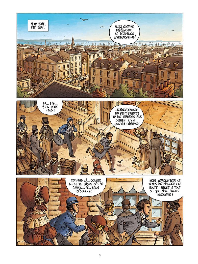 Extrait n°1 de la bd Tocqueville, vers un nouveau monde par Kévin Bazot