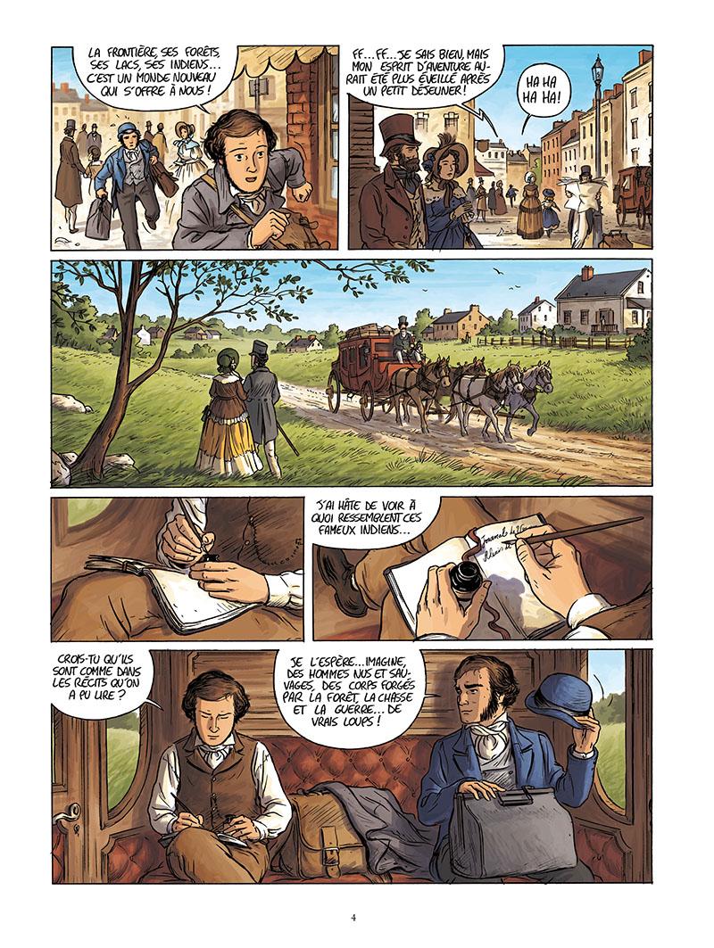 Extrait n°2 de la bd Tocqueville, vers un nouveau monde par Kévin Bazot