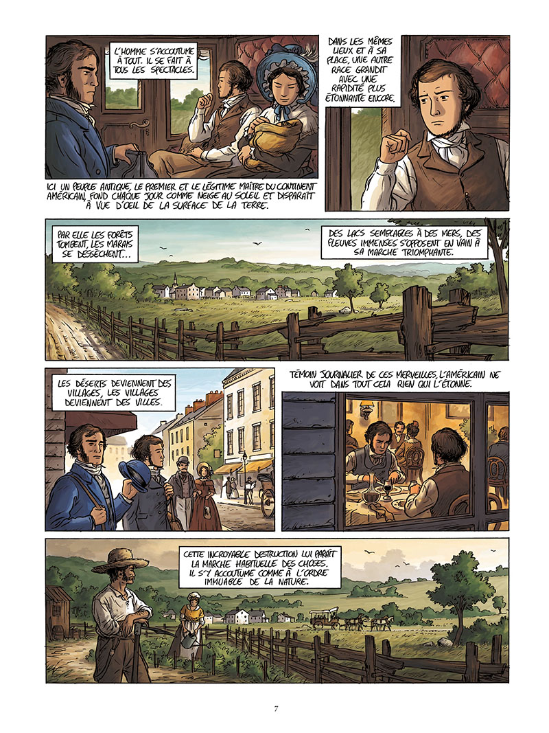 Extrait n°5 de la bd Tocqueville, vers un nouveau monde par Kévin Bazot