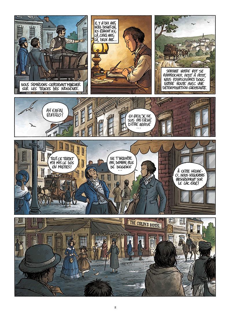 Extrait n°6 de la bd Tocqueville, vers un nouveau monde par Kévin Bazot