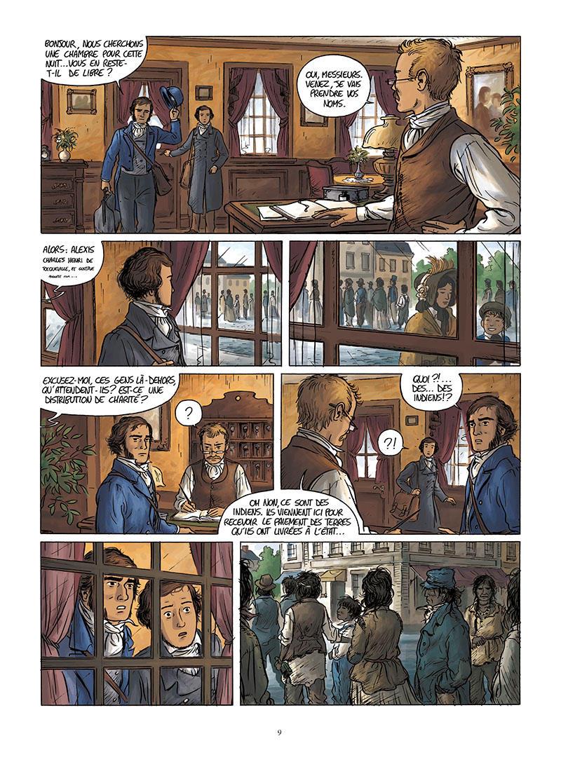 Extrait n°7 de la bd Tocqueville, vers un nouveau monde par Kévin Bazot