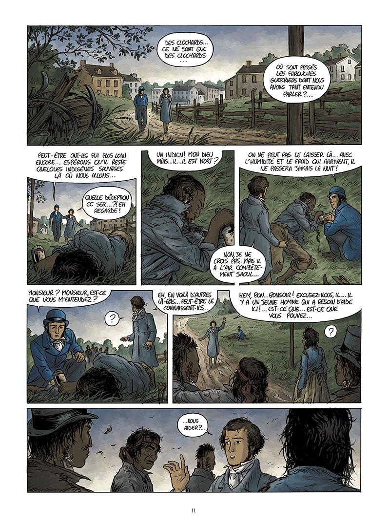 Extrait n°9 de la bd Tocqueville, vers un nouveau monde par Kévin Bazot