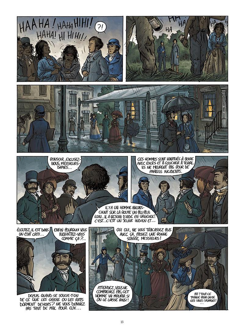Extrait n°11 de la bd Tocqueville, vers un nouveau monde par Kévin Bazot
