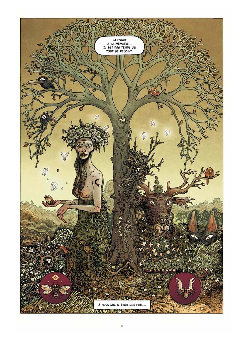 Extrait n°1 de la bd Dans la Forêt par Lionel Richerand