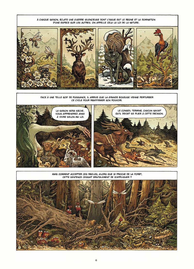 Extrait n°2 de la bd Dans la Forêt par Lionel Richerand