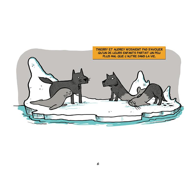 Extrait n°4 de la bd Loup-Phoque par Davy Mourier
