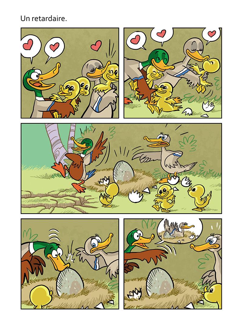 Extrait n°3 de la bd Le vilain petit canard par Curd Ridel