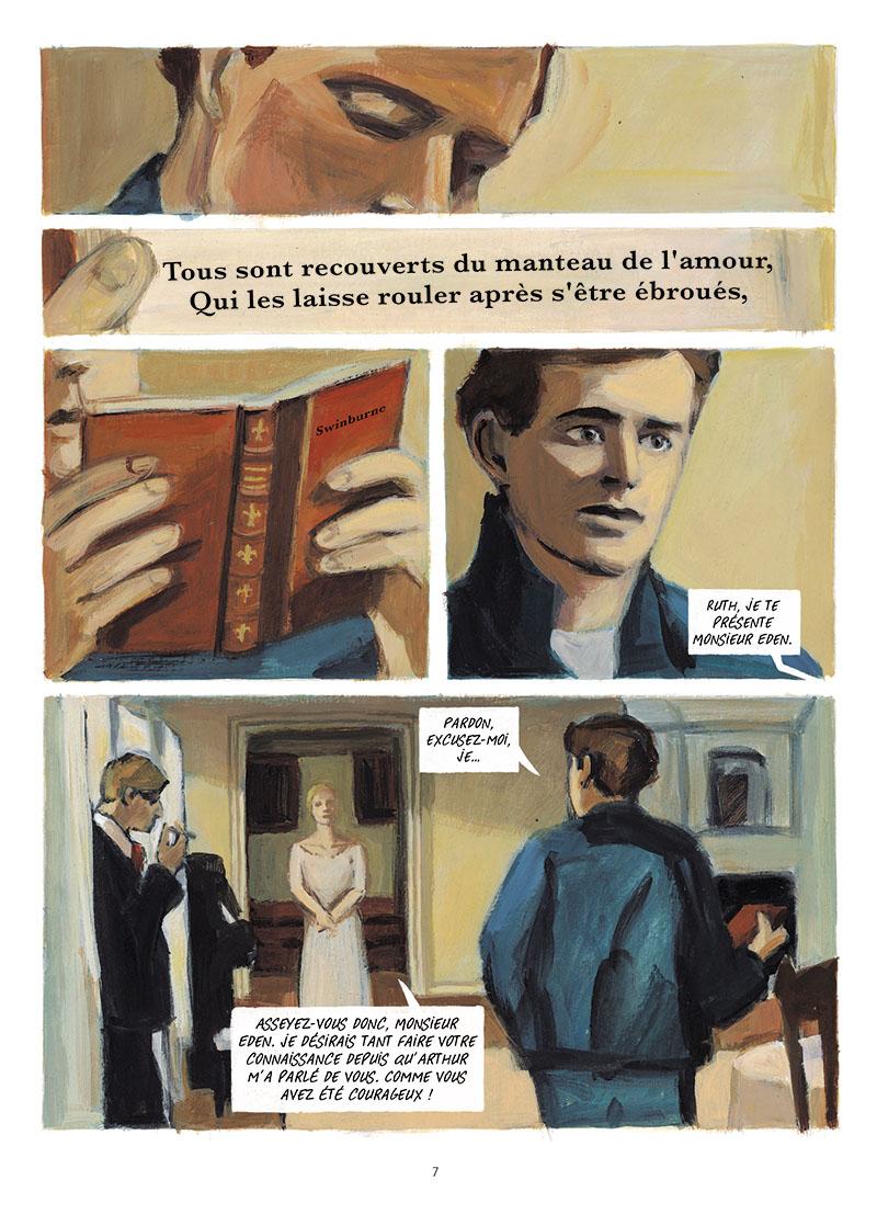 Extrait n°5 de la bd Martin Eden par Denis Lapière