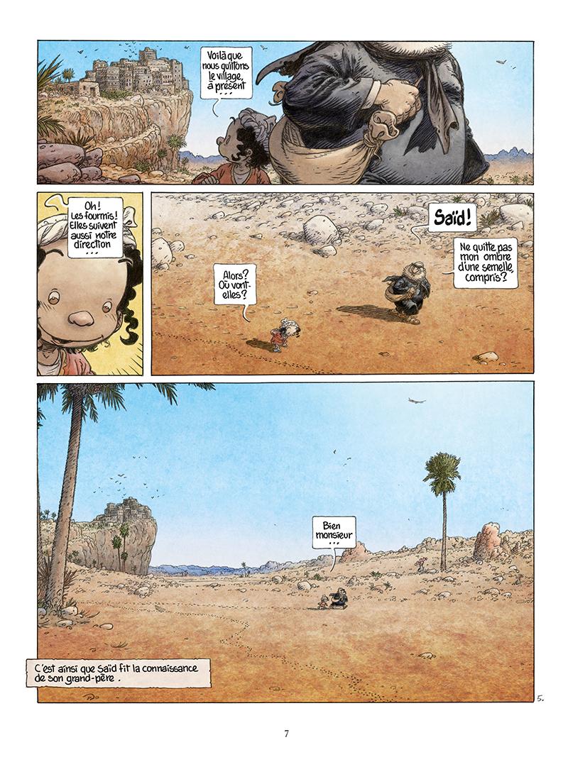 Extrait n°5 de la bd Là où vont les fourmis par Frank Le Gall