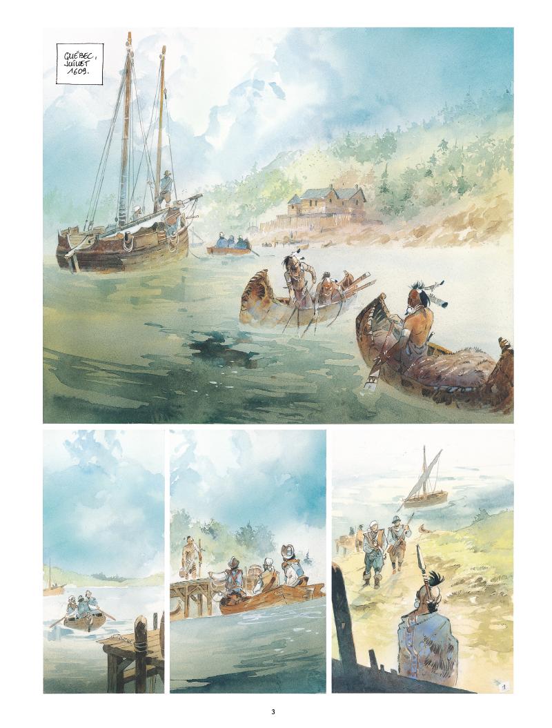 Extrait n°1 de la bd Iroquois par Patrick Prugne
