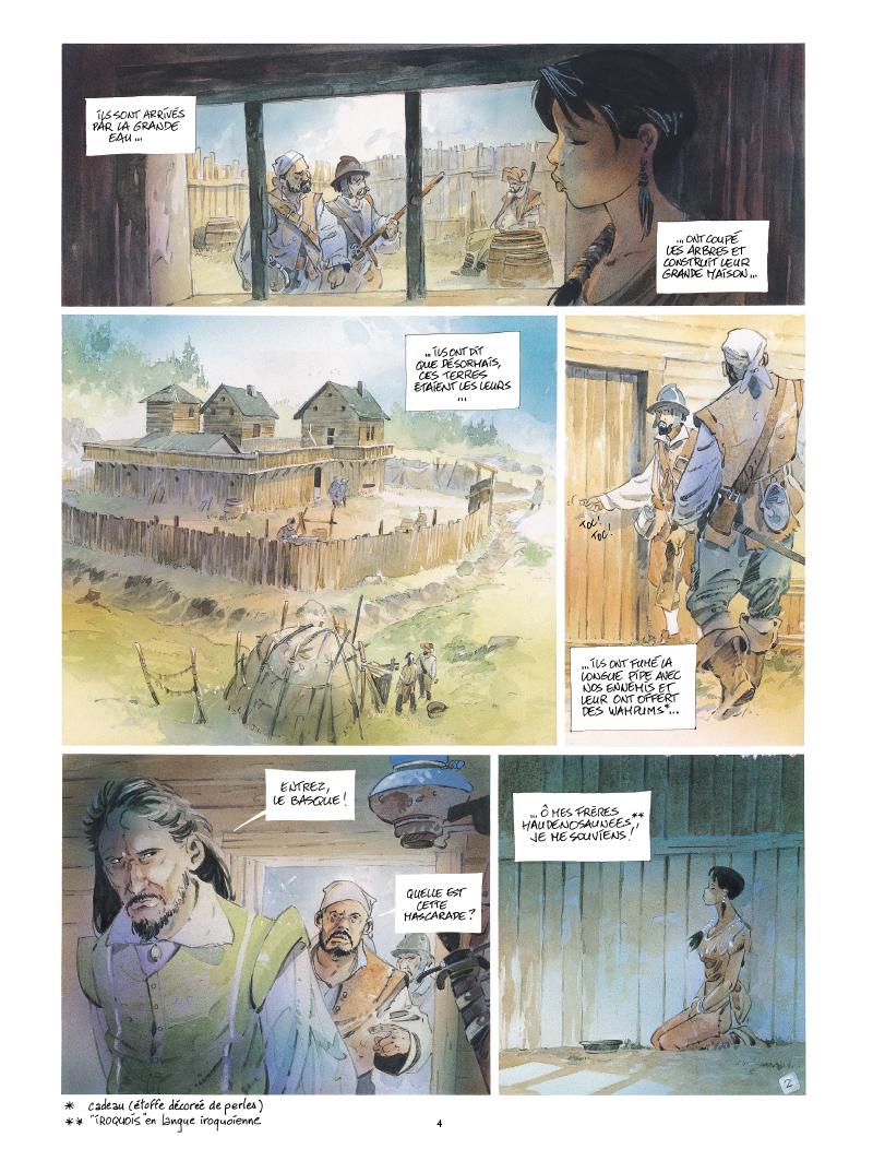 Extrait n°2 de la bd Iroquois par Patrick Prugne