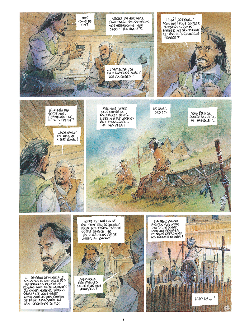 Extrait n°3 de la bd Iroquois par Patrick Prugne