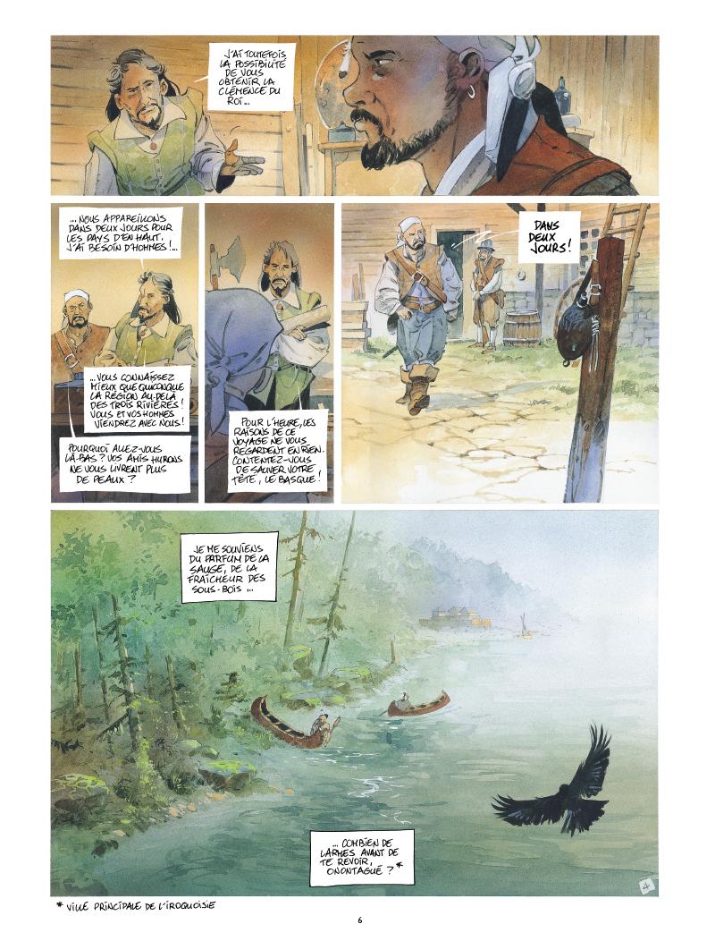Extrait n°4 de la bd Iroquois par Patrick Prugne