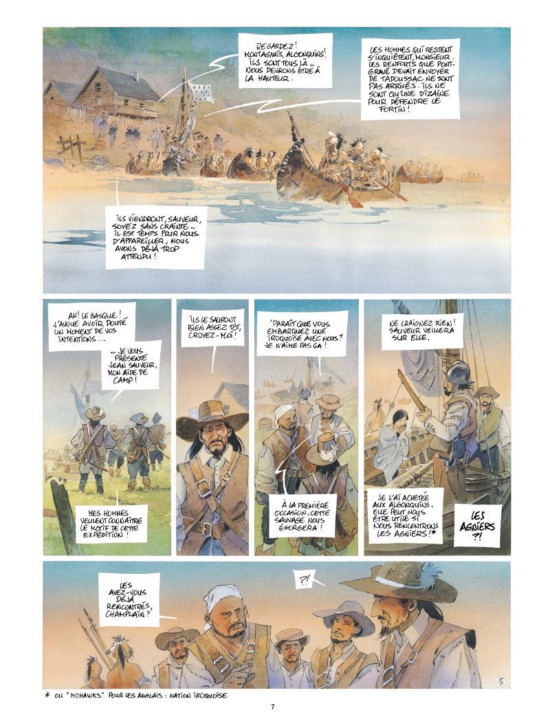 Extrait n°5 de la bd Iroquois par Patrick Prugne