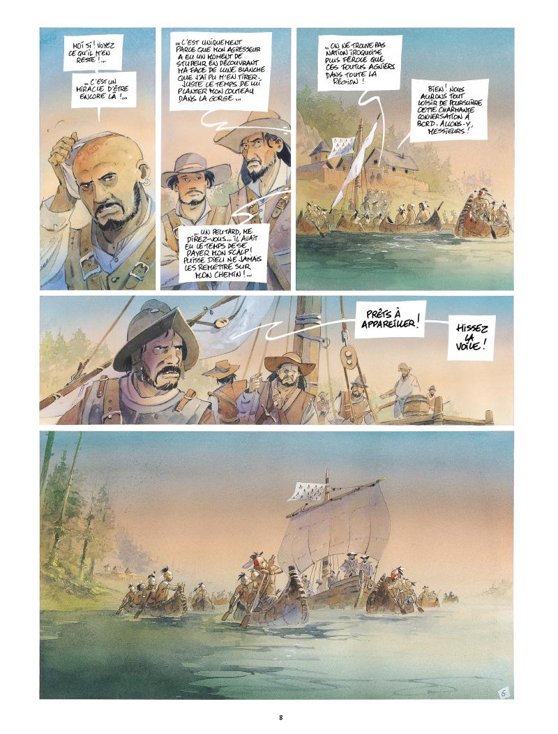 Extrait n°6 de la bd Iroquois par Patrick Prugne