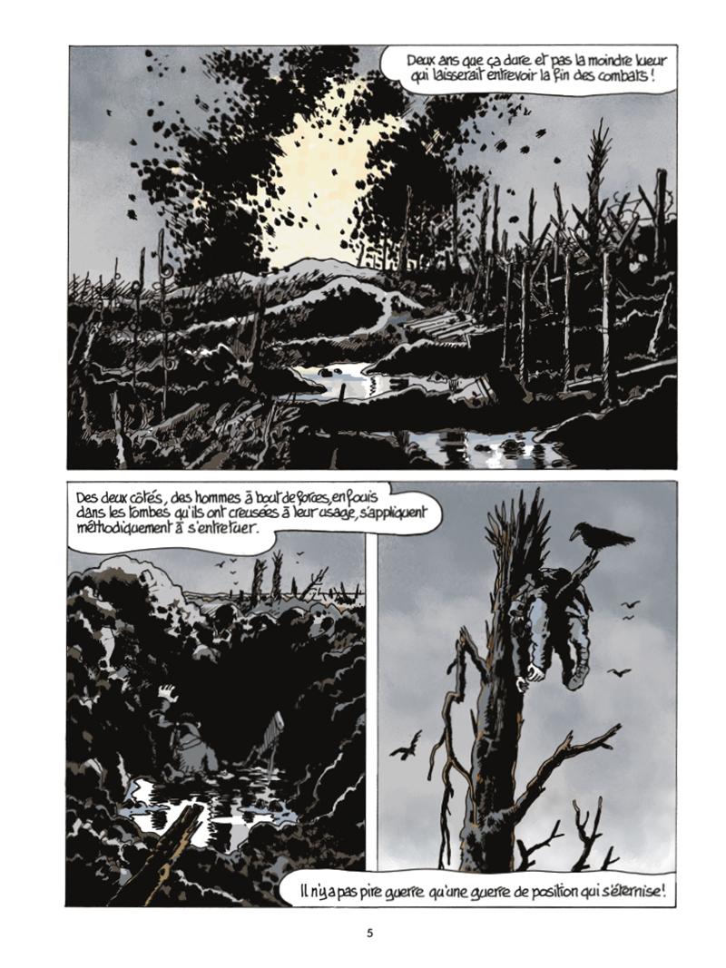 Extrait n°1 de la bd Le Dernier Assaut par Jacques Tardi