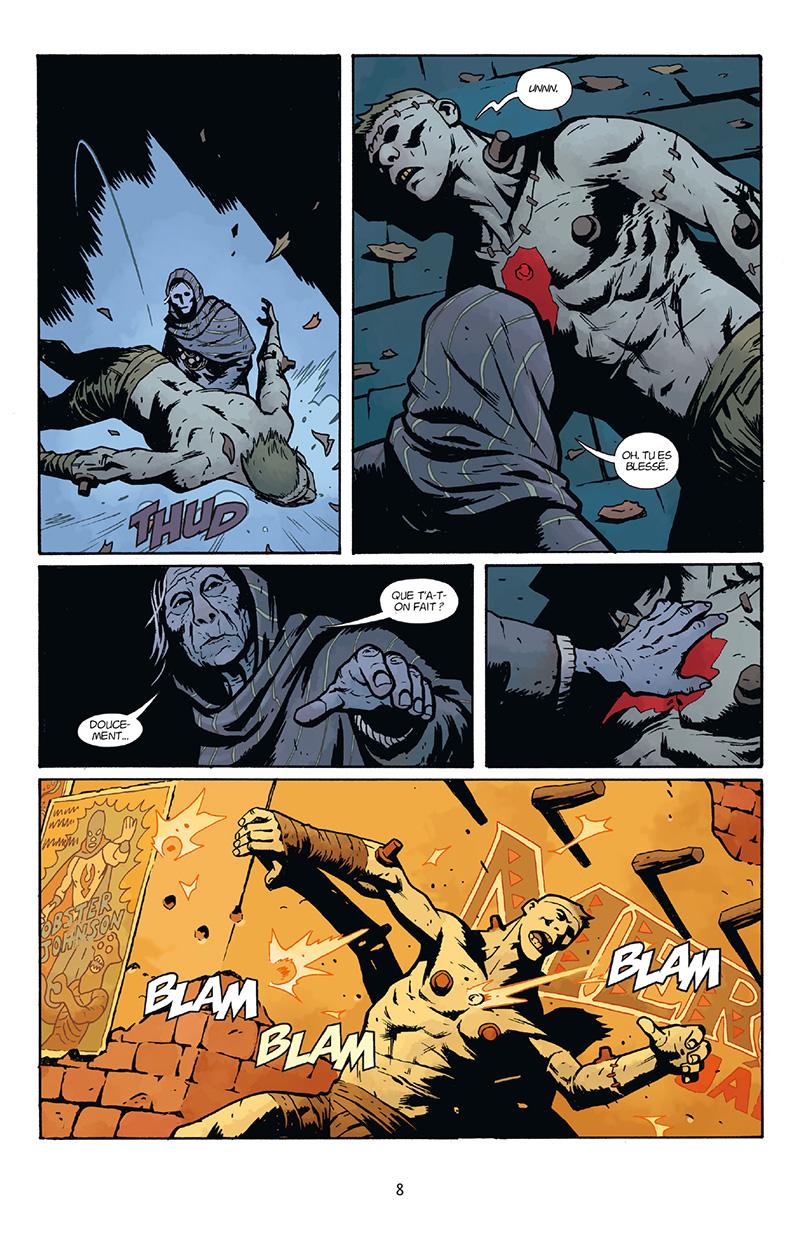 Extrait n°2 du comics Frankenstein Underground par Mike Mignola