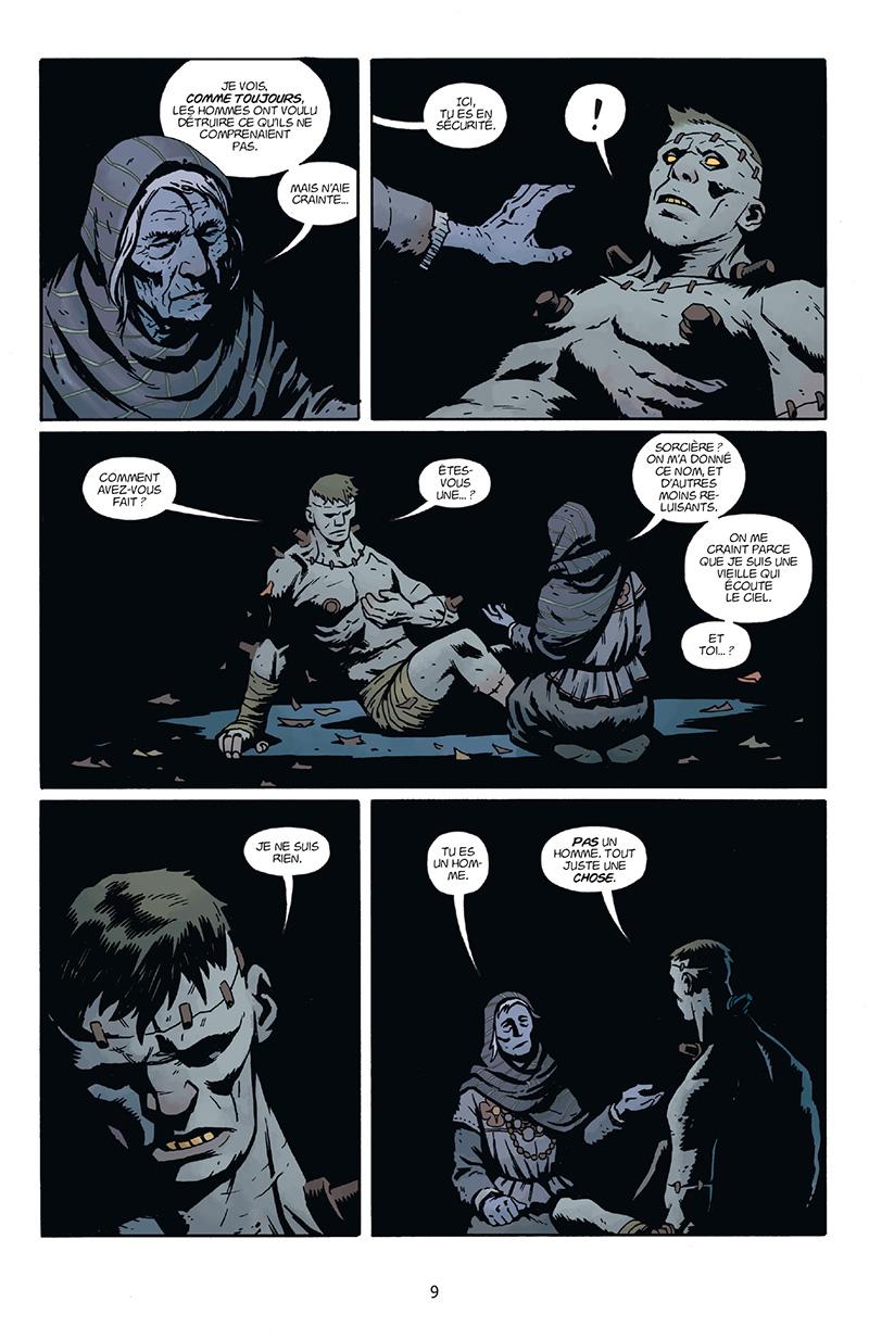 Extrait n°3 du comics Frankenstein Underground par Mike Mignola