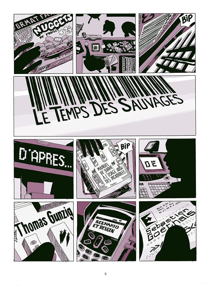 Extrait n°4 de la bd Le temps des sauvages par Sébastien Goethals