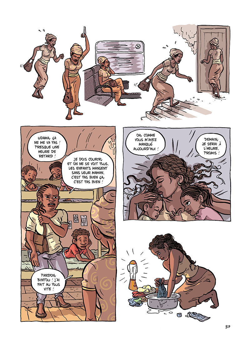 Extrait n°13 de la bd Udama chez ces gens-là par Zelba