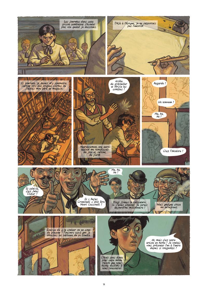 Extrait n°5 de la bd Monet, Nomade de la lumière par Salva Efa
