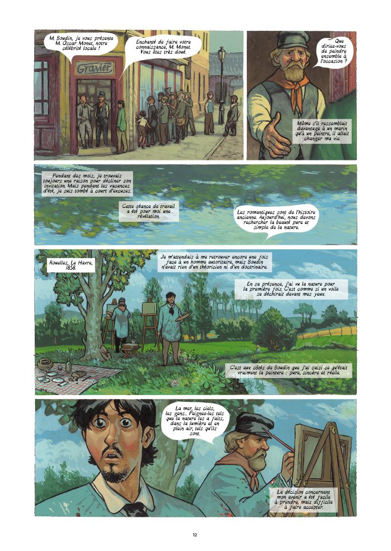 Extrait n°6 de la bd Monet, Nomade de la lumière par Salva Efa