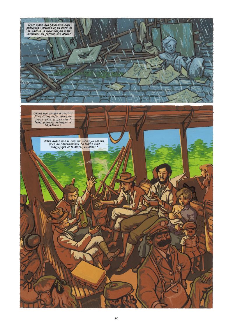 Extrait n°14 de la bd Monet, Nomade de la lumière par Salva Efa