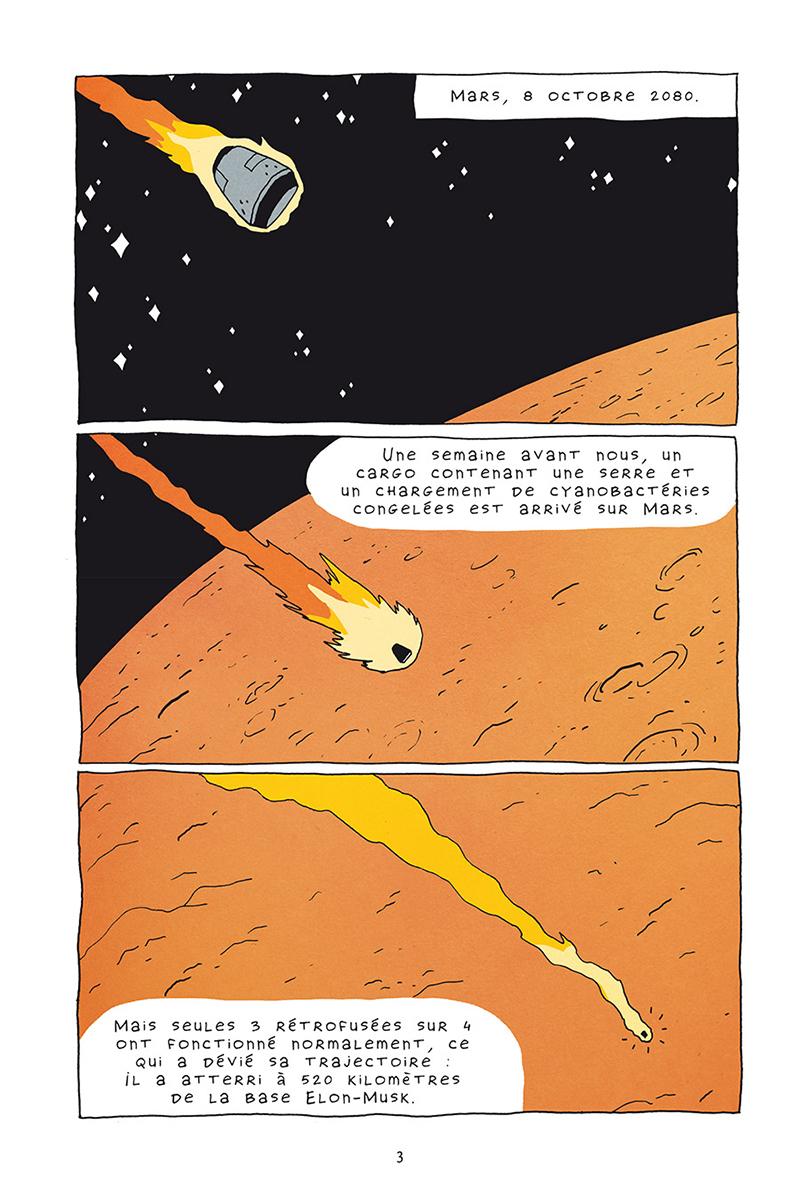 Extrait n°1 de la bd Mars horizon par Erwann Surcouf