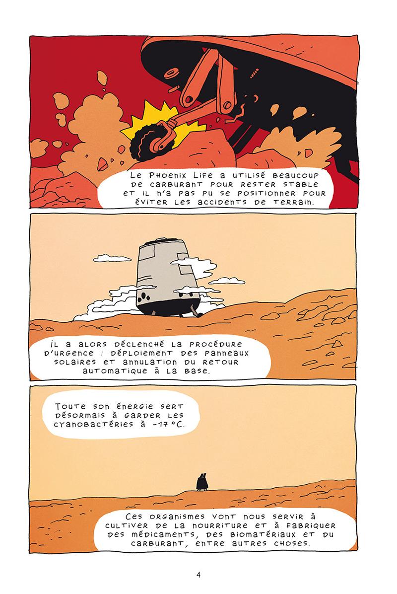 Extrait n°2 de la bd Mars horizon par Erwann Surcouf