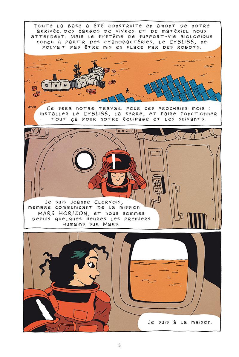 Extrait n°3 de la bd Mars horizon par Erwann Surcouf
