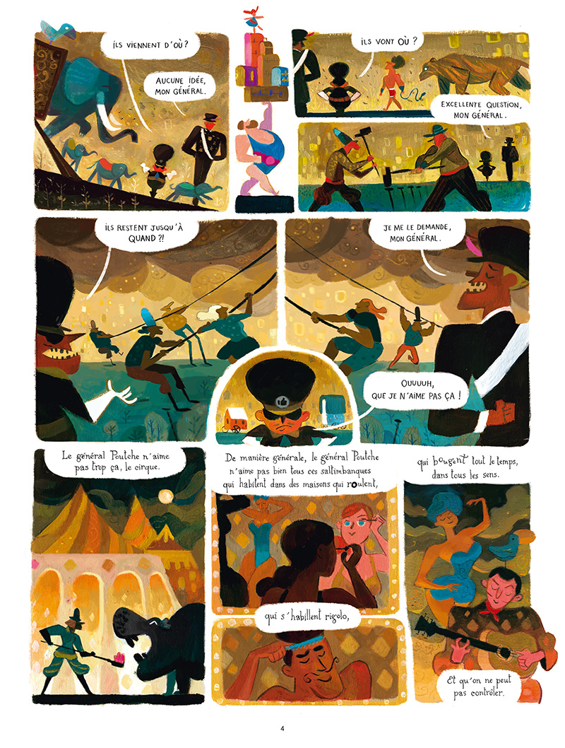 Extrait n°2 de la bd Quand le cirque est venu par Wilfrid Lupano