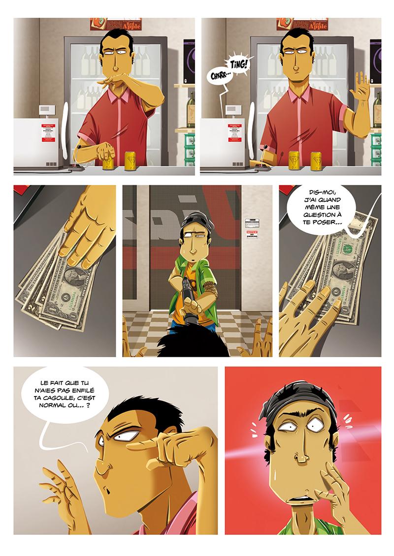 Extrait n°5 de la bd Hold-up, La BD dont vous êtes le héros par Shuky