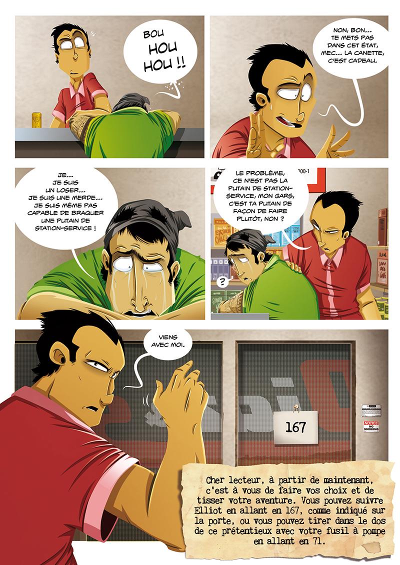 Extrait n°7 de la bd Hold-up, La BD dont vous êtes le héros par Shuky