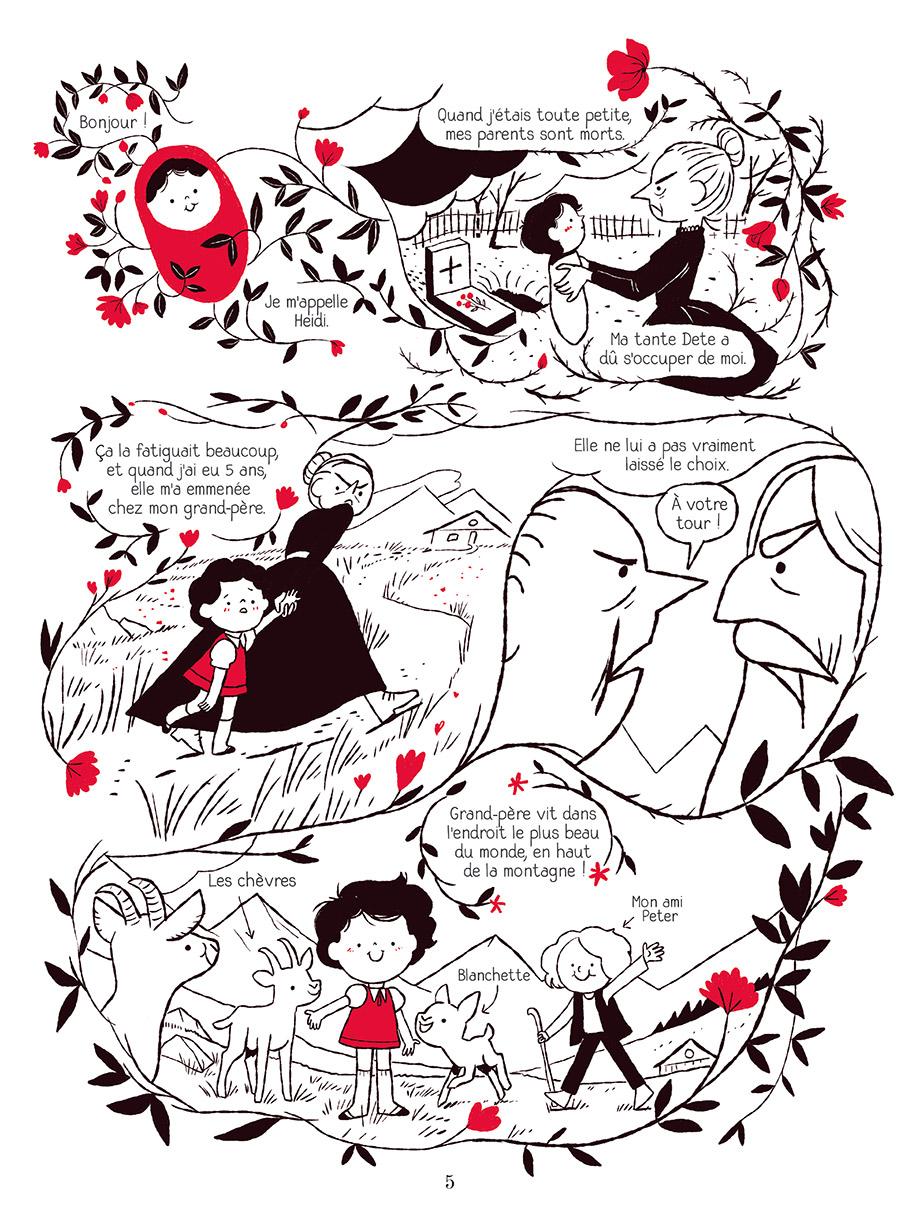 Extrait n°1 de la bd Heidi au printemps par Marie Spénale
