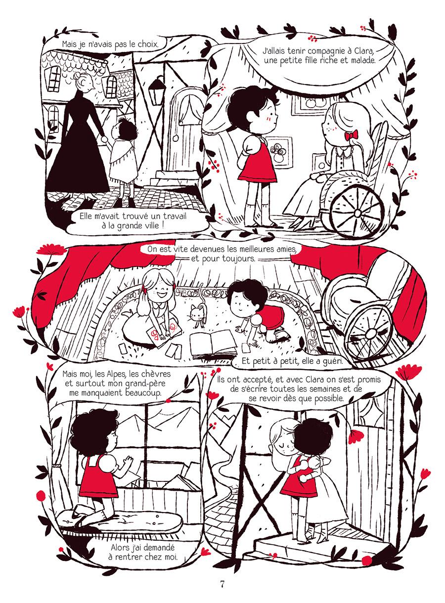 Extrait n°3 de la bd Heidi au printemps par Marie Spénale