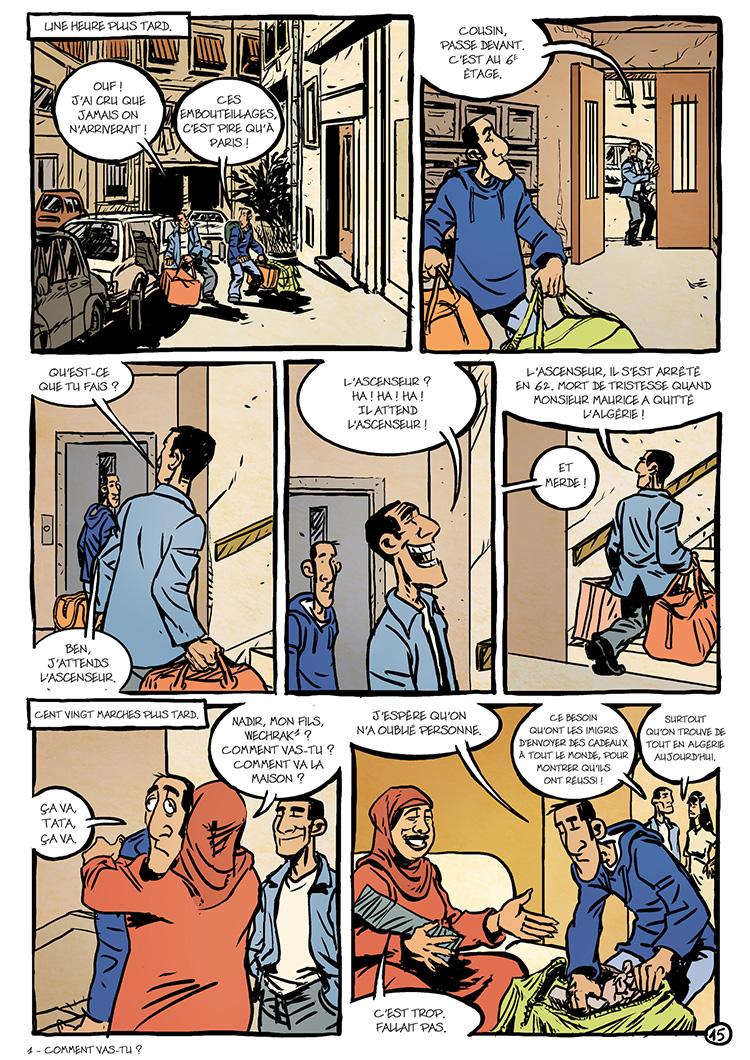 Extrait n°1 de la bd Oualou en Algérie par Gyps
