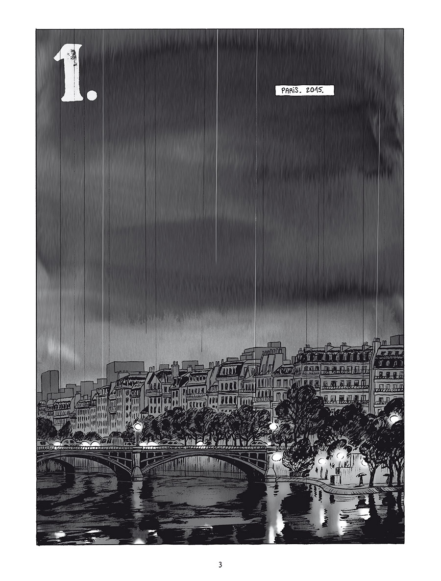 Extrait n°1 de la bd L'Homme gribouillé par Serge Lehman