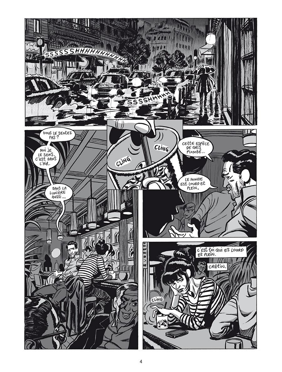 Extrait n°2 de la bd L'Homme gribouillé par Serge Lehman