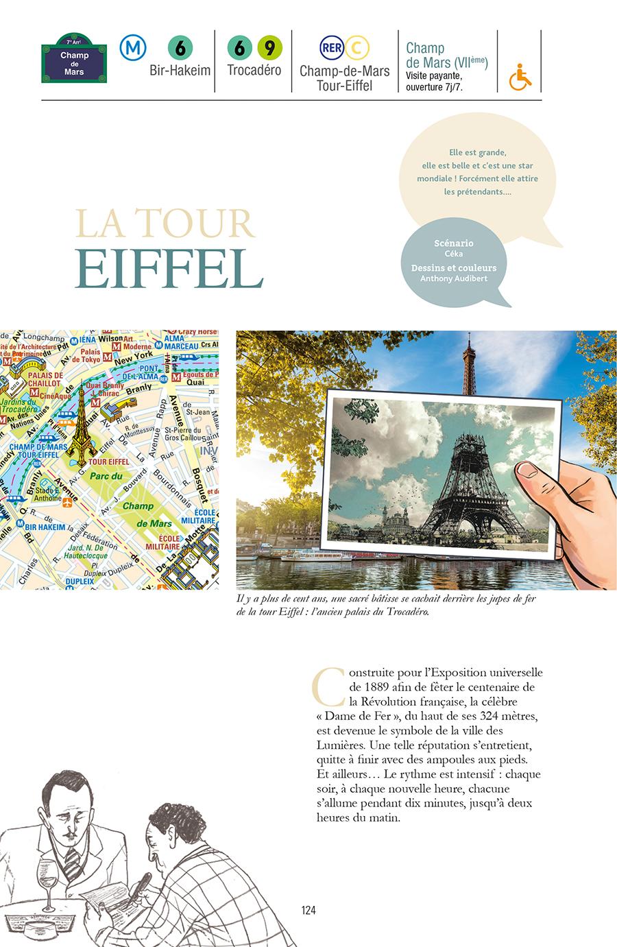 Extrait n°1 de la bd Guide de Paris en bandes dessinées par Derji