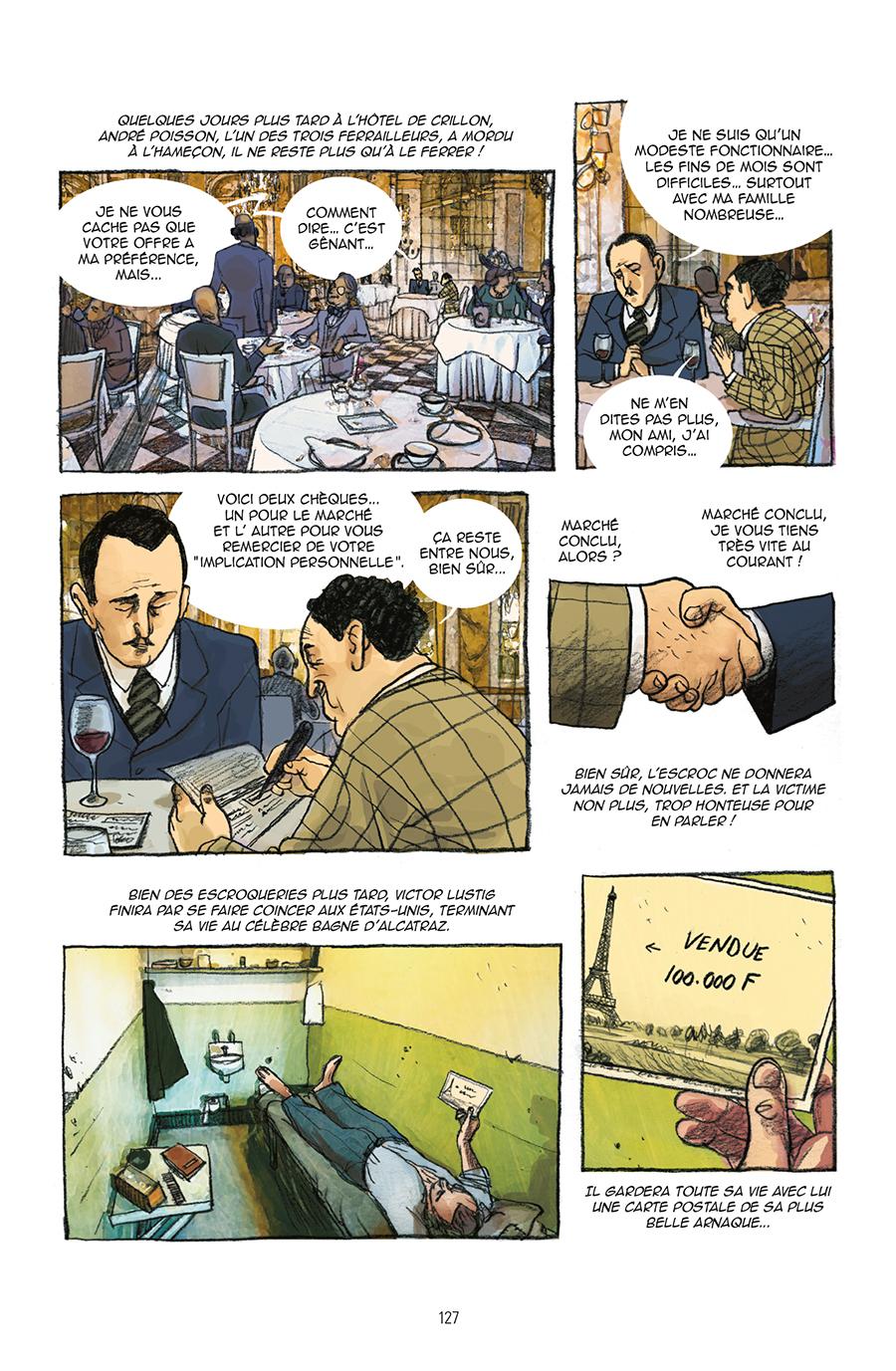 Extrait n°4 de la bd Guide de Paris en bandes dessinées par Derji