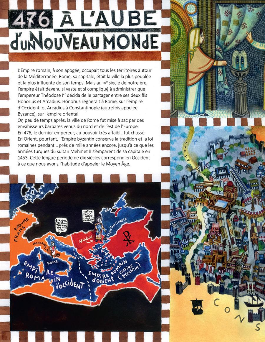 Extrait n°2 de la bd Le Moyen Âge par Florent Chavouet